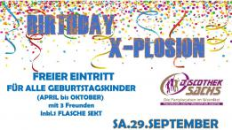 Birthday X-Plosion
