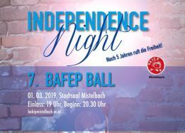 BAfEP-Ball: Independence Night - Nach 5 Jahren ruft die Freiheit