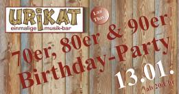 70er, 80er & 90er-Birthday-Party